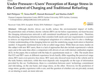 Philipsen, R., Brell, T., Biermann, H., & Ziefle, M. ,2019. Under Pressure—Users' Perception of Range Stress in the Context of Charging and Traditional Refueling.